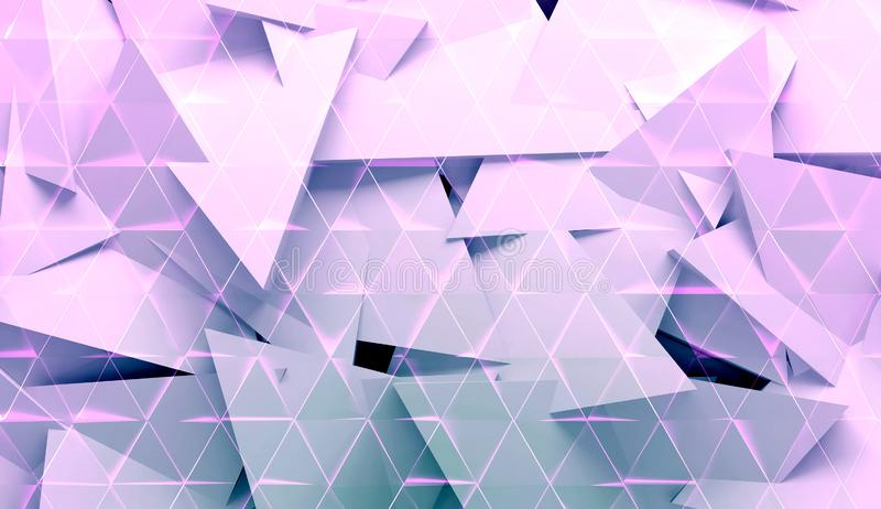 Abstract digital pattern, polygonal background texture 3d stock illustration