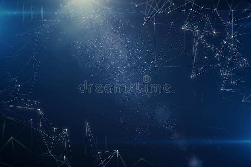 Abstract polygonal space wallpaper vector illustration