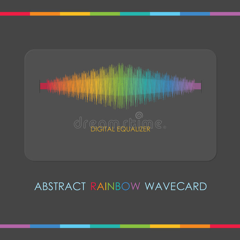 Abstract digital rainbow equalizer card vector illustration