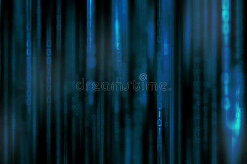 Abstract digital science fiction matrix background stock photography