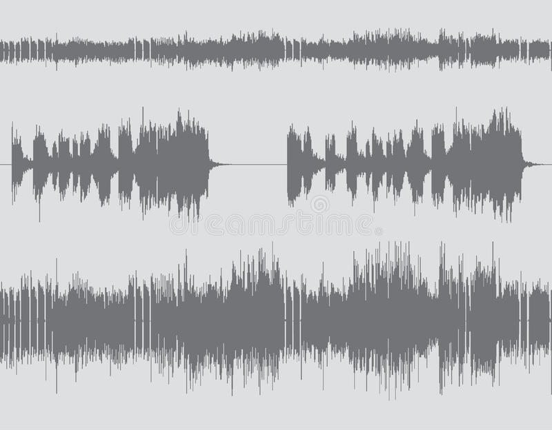 Abstract digital sound wave background royalty free illustration