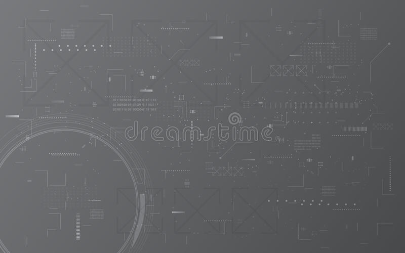 Abstract digital tech communication computer texture pattern montage design concept background stock illustration