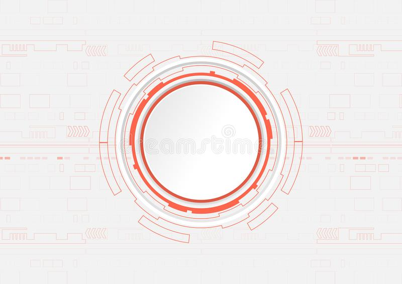 Abstract Digital technology background, Hi-Tech concept. stock illustration