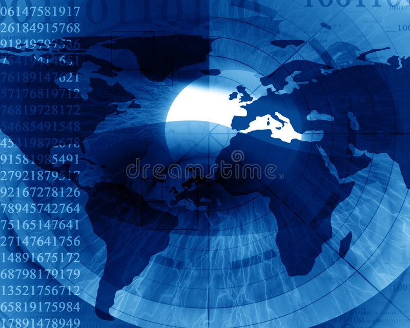 Download Abstract digital world stock illustration. Illustration of digits - 6535988