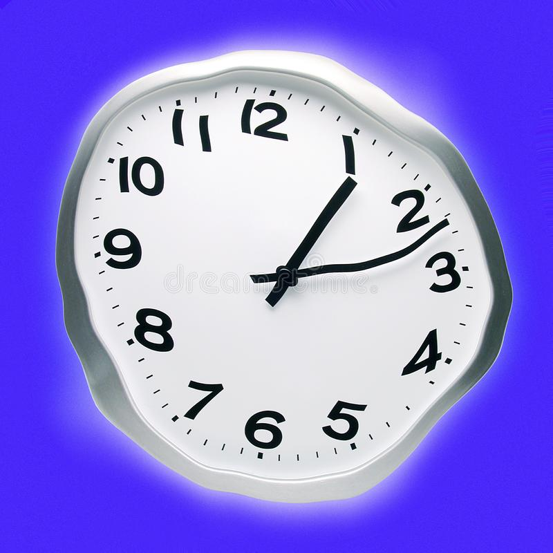 Abstract Distorted Time Clock royalty free stock photography