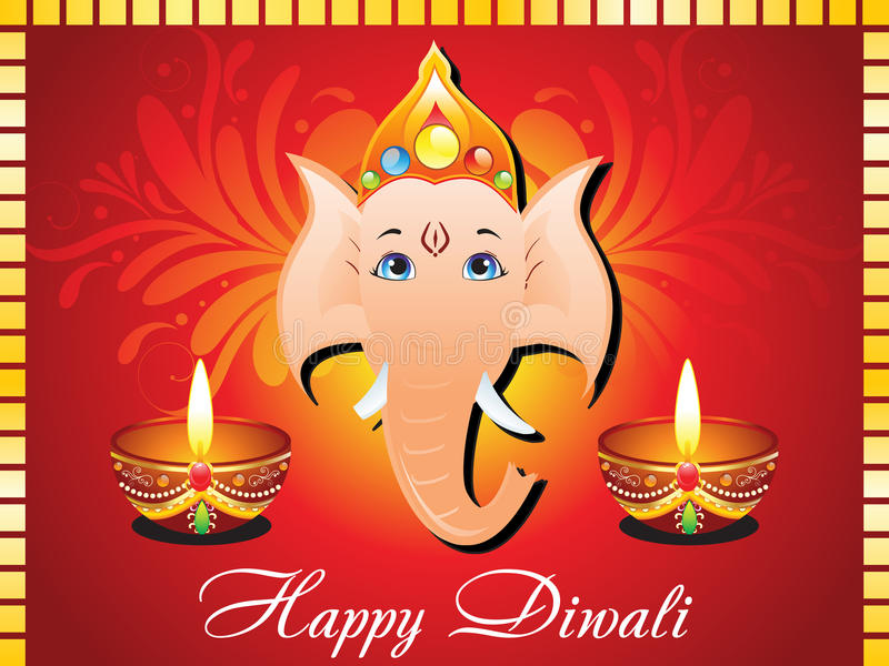 Abstract diwali card royalty free illustration