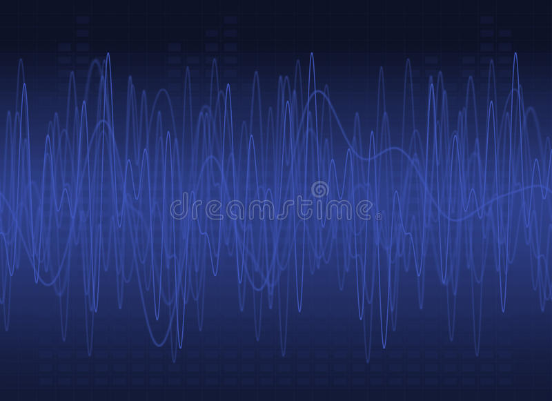 Abstract DJ Background. Abstract Blue Graphic Equalizer Background stock illustration