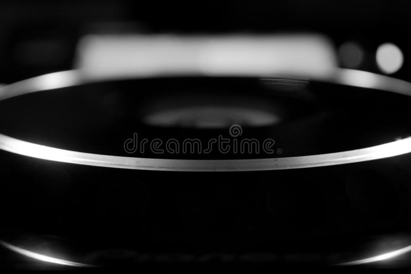 Abstract Professional Audio DJ CD USB SD Player stock photos