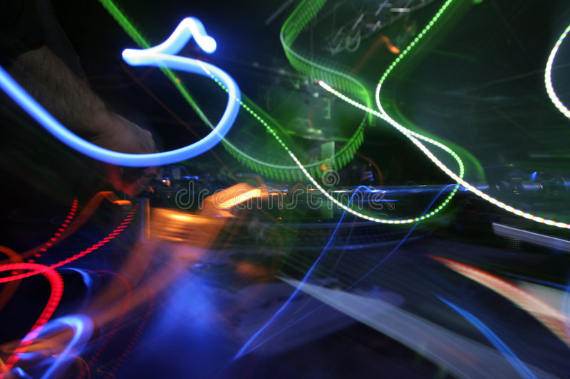 abstract dj lights