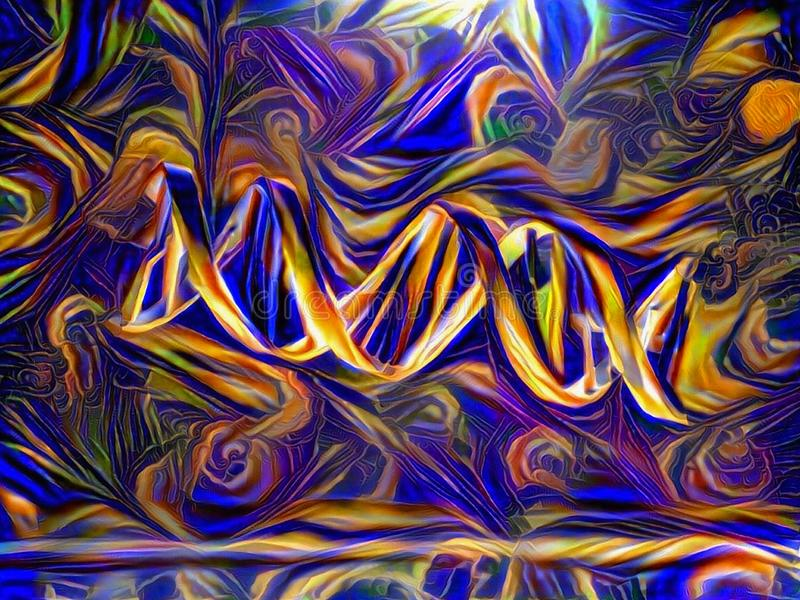 Abstract DNA stock illustration