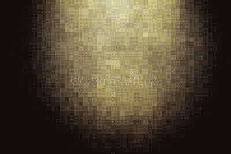 Abstract donker gouden mozaïekblok stock afbeelding