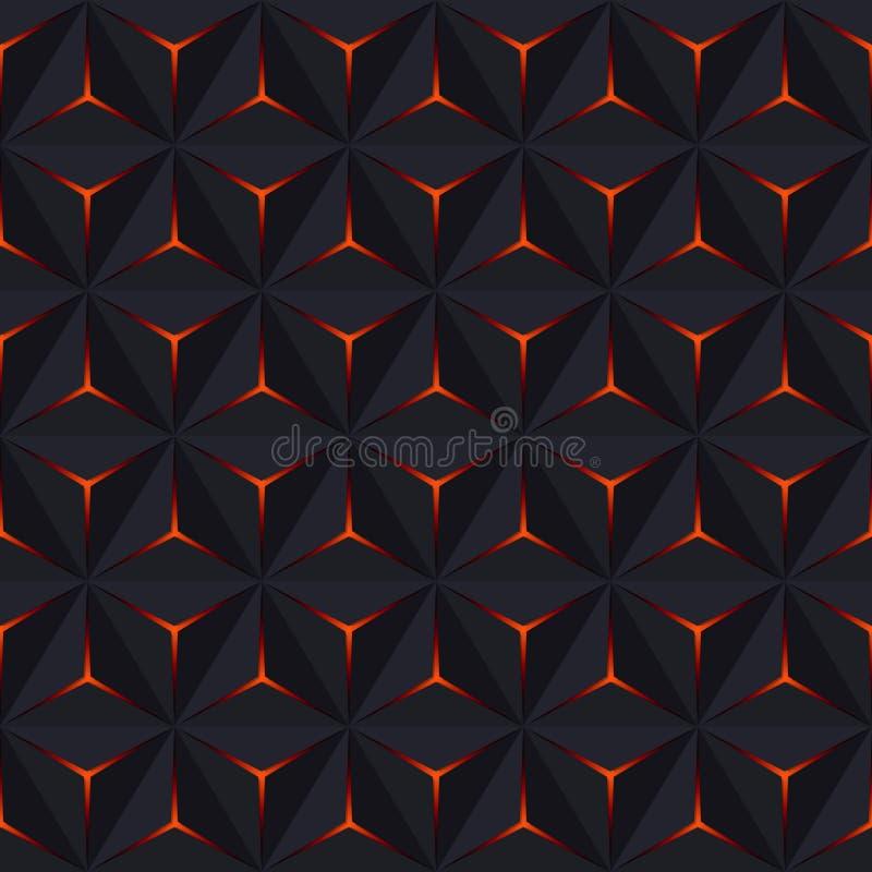 Abstract donker naadloos patroon Vector Geometrische Achtergrond met royalty-vrije illustratie