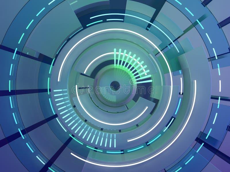 Abstract donker oog technische als achtergrond of glas 3d vector illustratie