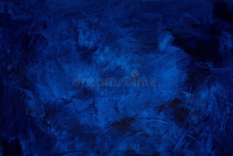 Abstract donkerblauw grijnstucco wandachtergrond royalty-vrije stock afbeelding