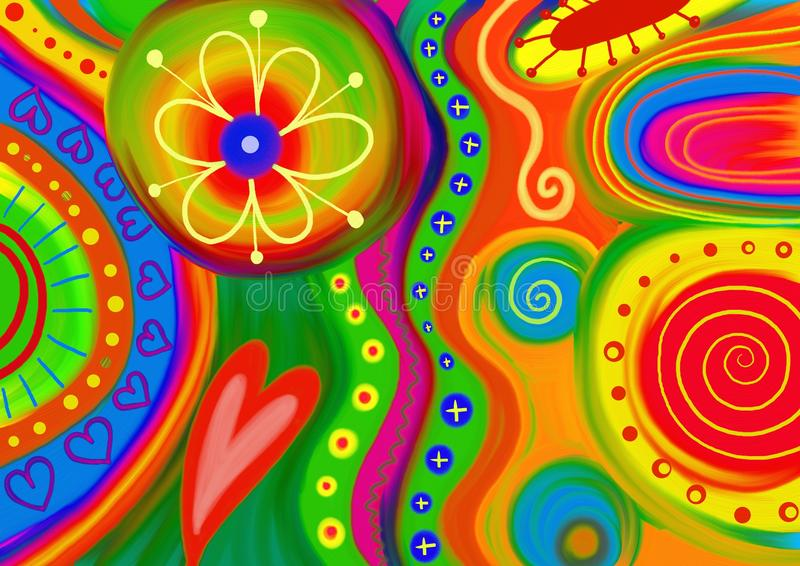 Abstract Doodle royalty free illustration