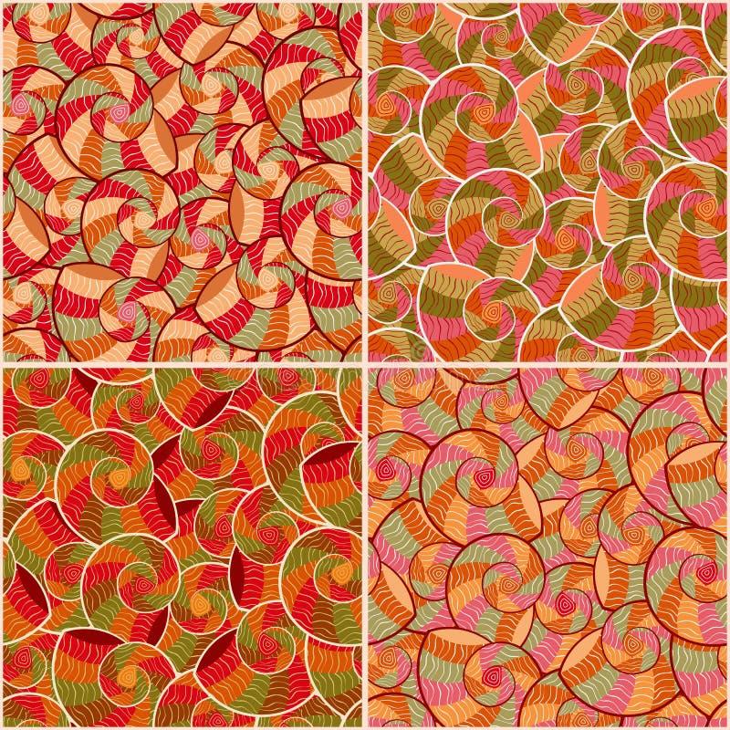 Download Abstract Doodle Seamless Pattern Set Stock Illustration - Illustration: 27018460