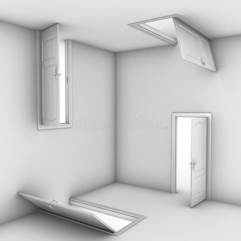 Abstract doors royalty free illustration