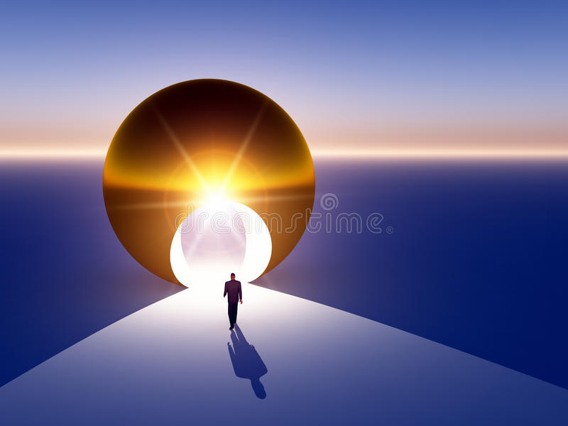 Download Abstract - Doorway To Golden Opportunity Stock Illustration - Image: 15451934
