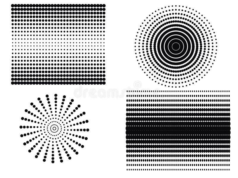 Abstract dots stock illustration