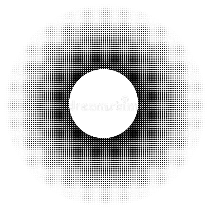 Abstract dots circle. Halftone design element vector illustration