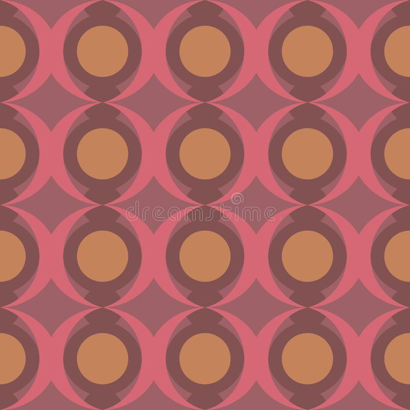 Abstract dotted flat seamless pattern. Timeless simple geometric pattern stock illustration