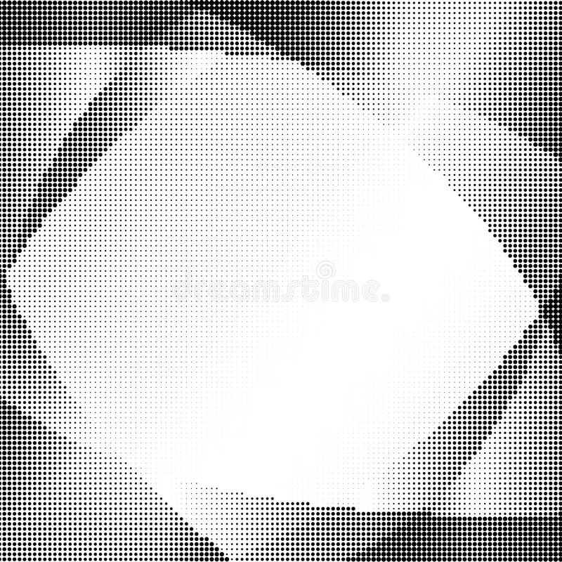Abstract dotted pattern. Design on white background. Arc shape stock illustration