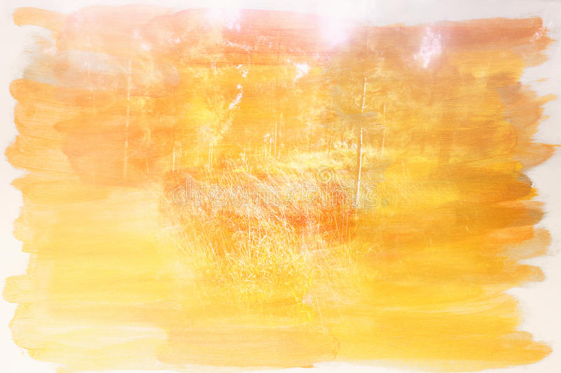 Abstract double exposure image of forest and watercolor texture.  stock photos