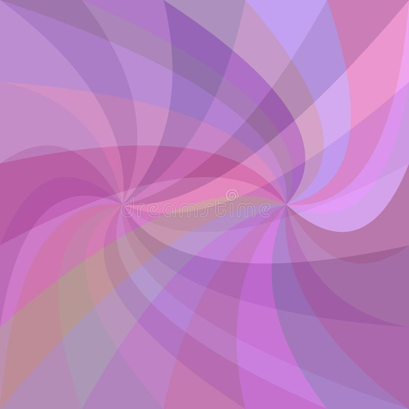 Abstract double swirl background - vector graphic from swirling rays in purple tones vector illustration