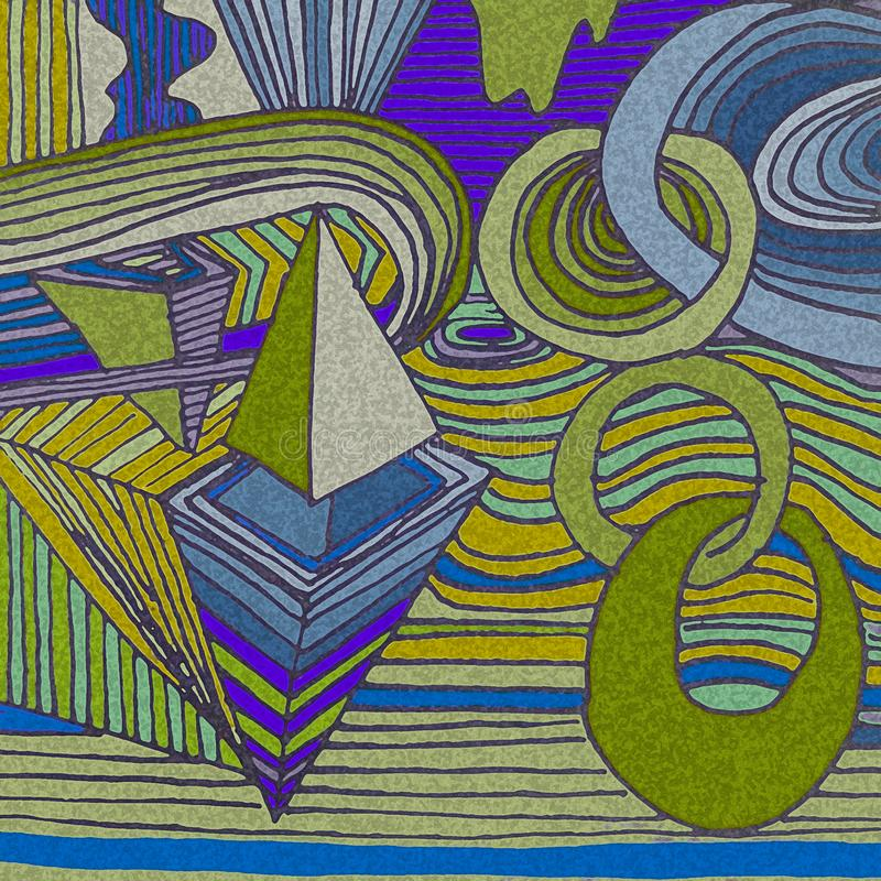Abstract draw. Abstract art. Illustration. stock photo