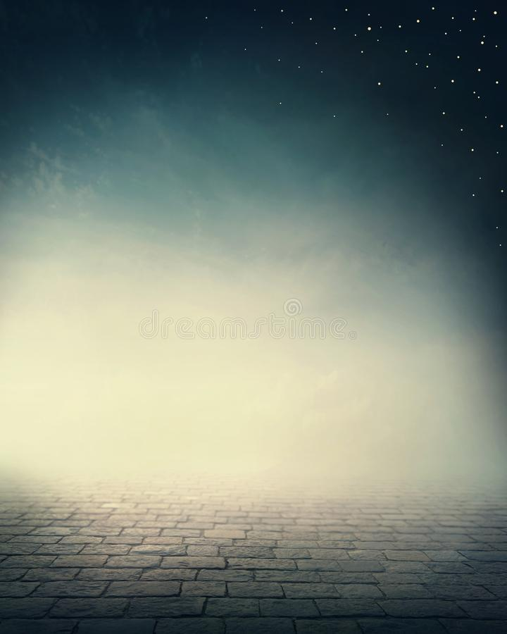 Abstract dreamy background. With stars royalty free stock photo