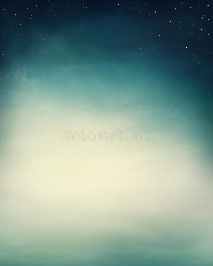 Abstract dreamy background. With stars stock photo