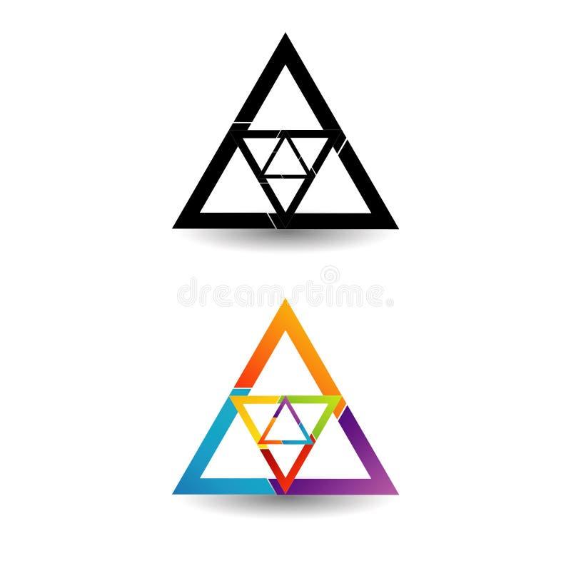 Abstract driehoekig kleurrijk embleem royalty-vrije illustratie