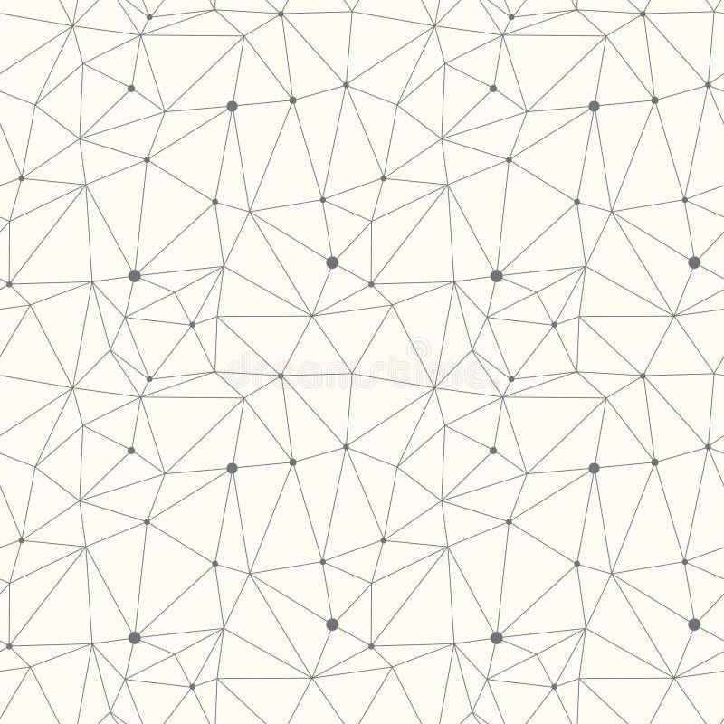 Abstract driehoeks modern vector eenvoudig naadloos patroon royalty-vrije illustratie