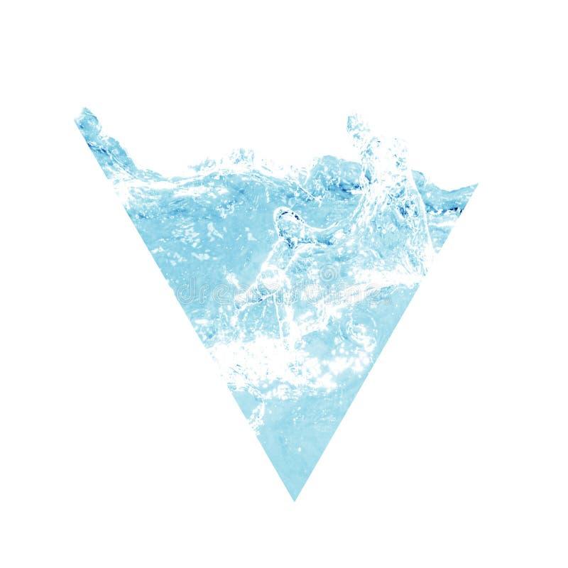Abstract driehoeksreservoir water Waterelement royalty-vrije stock afbeelding