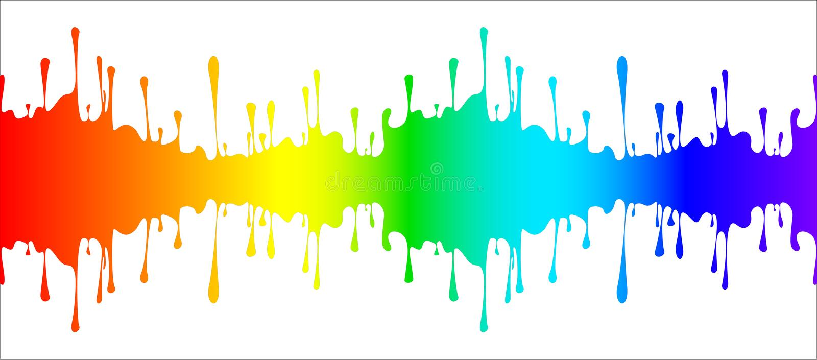 Download Abstract drips of paint stock vector. Illustration of rainbow - 23616626