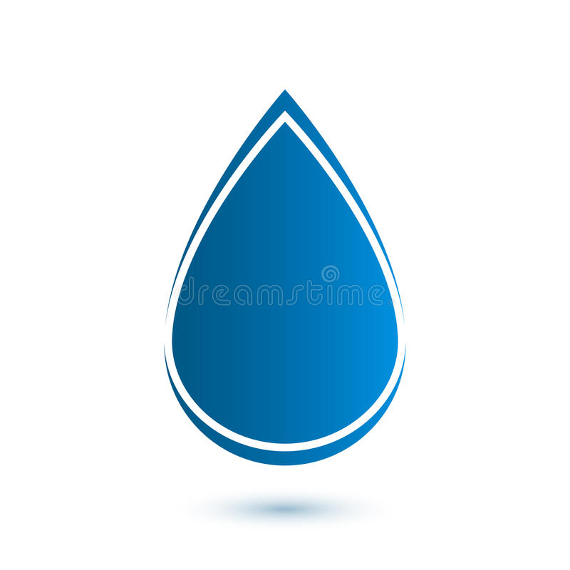 Abstract drop icon stock illustration
