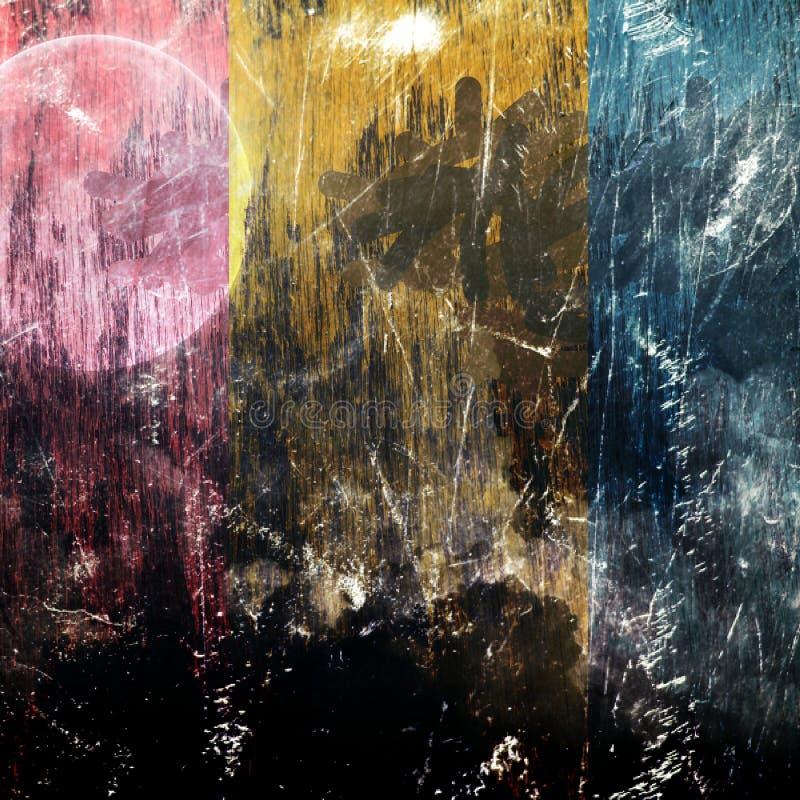 Abstract druk digitaal art. royalty-vrije illustratie