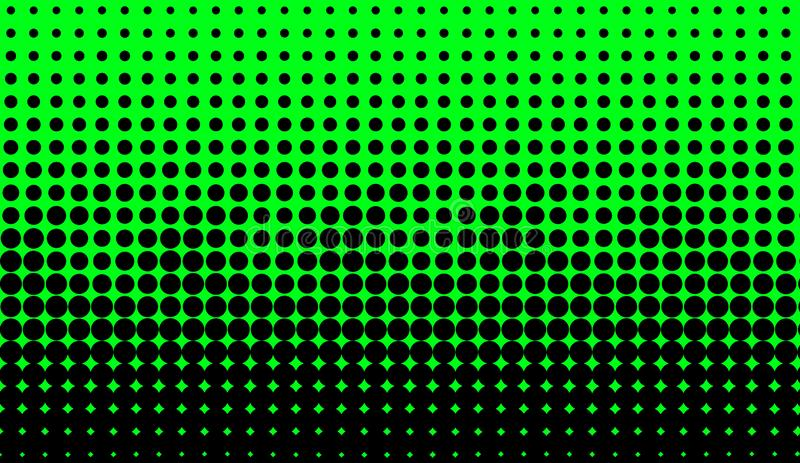 Abstract duotone background . Hypnosis halftone psychedelic art . Design pattern. Abstract duotone background . Hypnosis green halftone psychedelic art . Design royalty free illustration