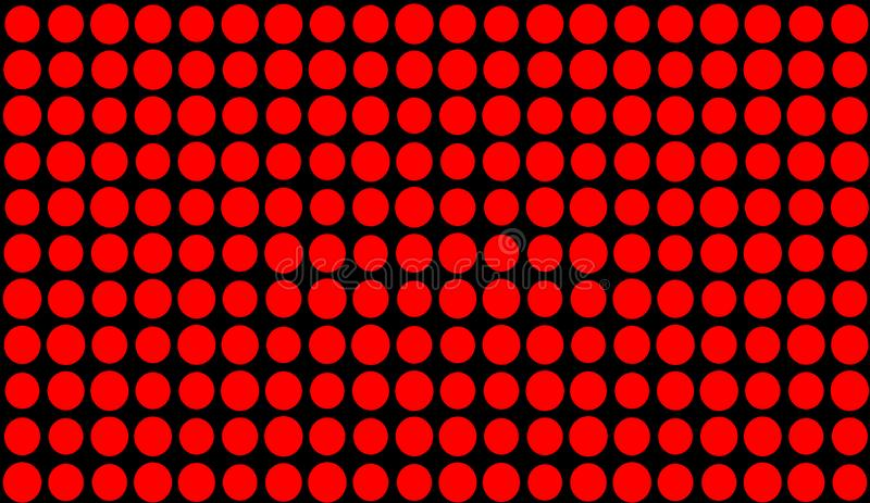 Abstract duotone background . Hypnosis red halftone psychedelic art . Design pattern. Elemet royalty free illustration