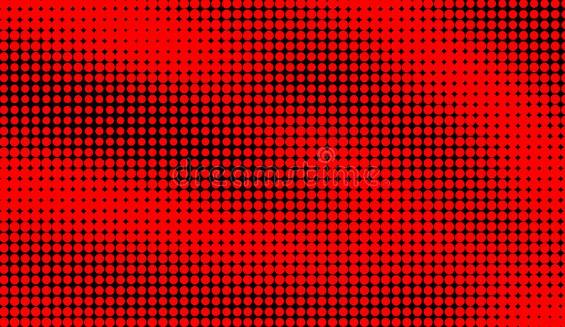 Abstract duotone background . Hypnosis red halftone psychedelic art . Design pattern. Elemet stock illustration