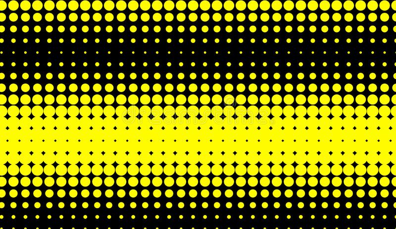 Abstract duotone background . Hypnosis yellow halftone psychedelic art . Design pattern. Element royalty free illustration