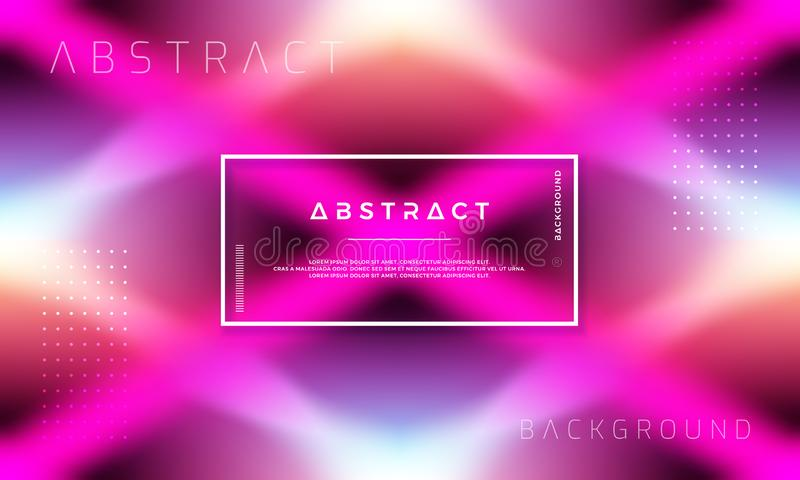 Abstract Dynamic background design with colorful gradient shapes stock illustration