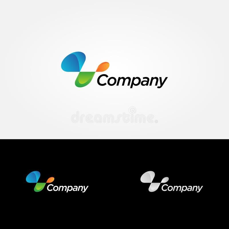 Abstract Dynamic Company Logo Sign Symbol Icon illustration de vecteur