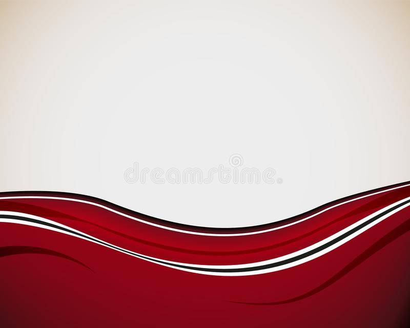 Abstract dynamic design background with wavy red and white lines in elegant smooth style. Vector illustration royalty free illustration