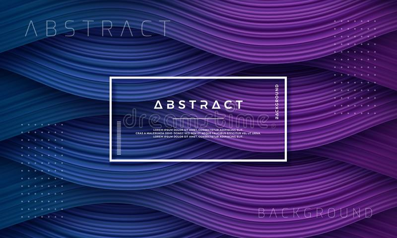 Abstract, Dynamic and Textured purple, dark blue background for your design element and others stock illustration