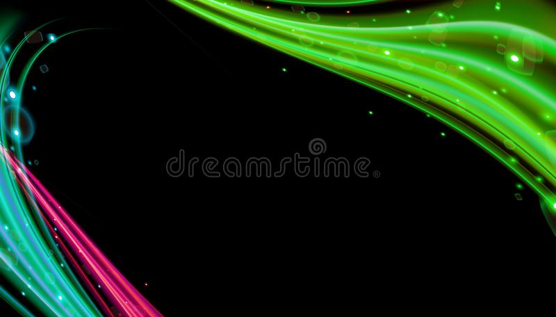 Abstract dynamic wave geometric wallpaper. Flow motion design 3d vector stock illustration
