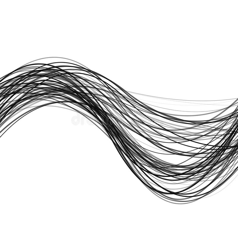 Abstract dynamic wave stripe background - design from curved lines royalty free illustration