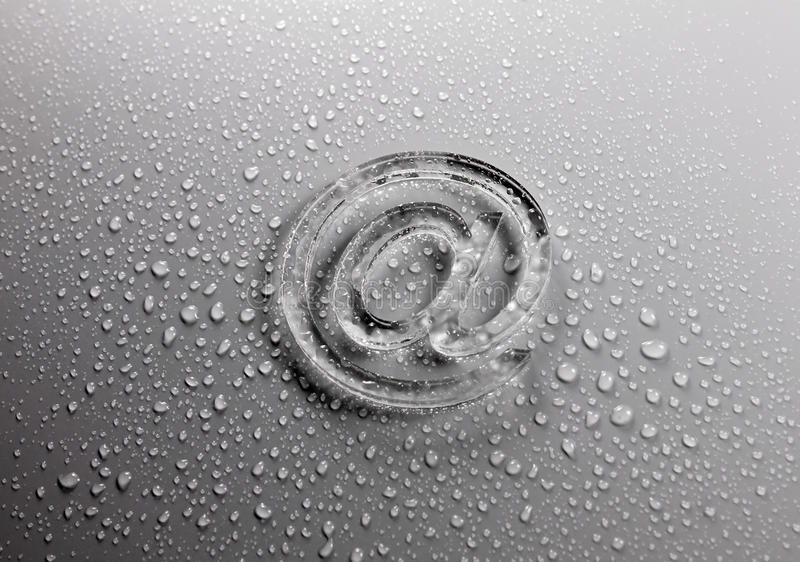 Download Abstract E-mail On Liquid Bubbles Stock Image - Image: 14859759
