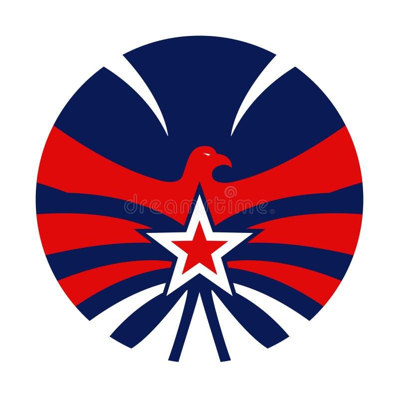 Abstract eagle circular design vector illustration