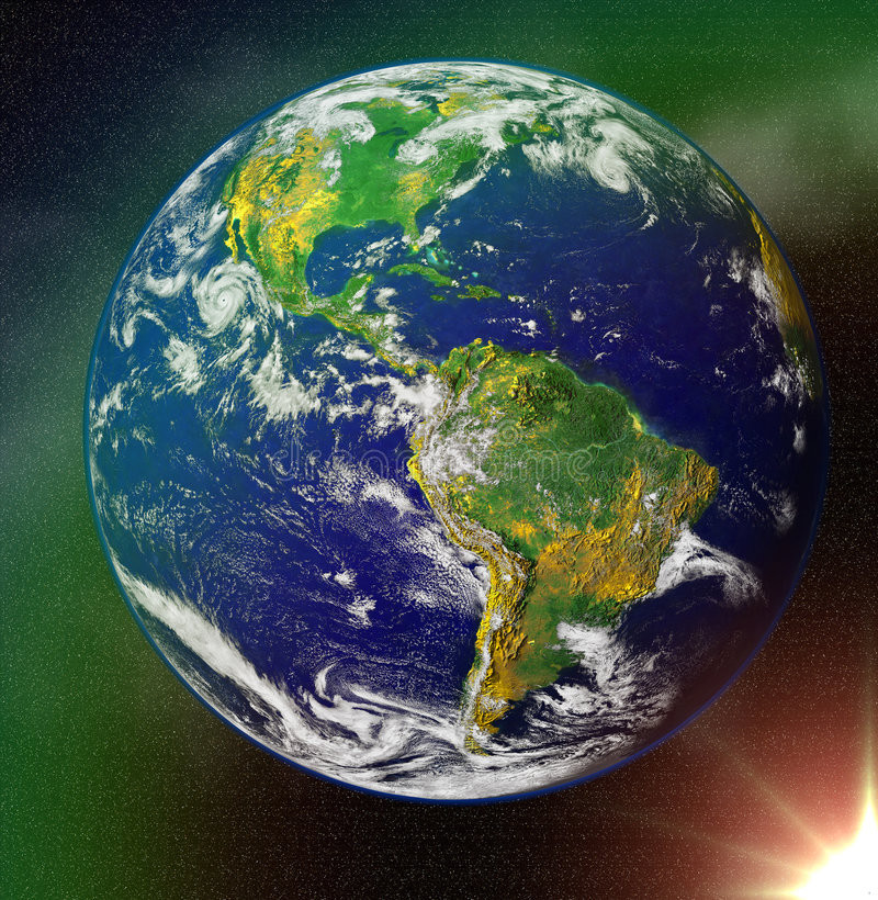 Abstract Earth Blue Planet In Space Royalty Free Stock Images